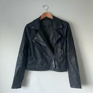 Blank NYC Faux Black Leather Moto Jacket